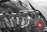 Image of Douglas SBD Dauntless aircraft start and taxi Pearl Harbor Hawaii USA, 1942, second 42 stock footage video 65675061841