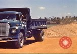 Image of construction of highway Vietnam, 1969, second 18 stock footage video 65675062016