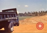 Image of construction of highway Vietnam, 1969, second 24 stock footage video 65675062016