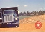 Image of construction of highway Vietnam, 1969, second 26 stock footage video 65675062016