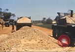 Image of construction of highway Vietnam, 1969, second 59 stock footage video 65675062016