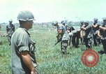 Image of Memorial ceremony for fallen of 199th Light Infantry Brigade South Vietnam, 1968, second 9 stock footage video 65675062054