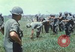 Image of Memorial ceremony for fallen of 199th Light Infantry Brigade South Vietnam, 1968, second 10 stock footage video 65675062054