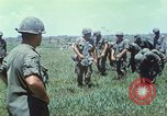 Image of Memorial ceremony for fallen of 199th Light Infantry Brigade South Vietnam, 1968, second 13 stock footage video 65675062054