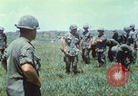 Image of Memorial ceremony for fallen of 199th Light Infantry Brigade South Vietnam, 1968, second 14 stock footage video 65675062054
