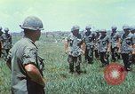Image of Memorial ceremony for fallen of 199th Light Infantry Brigade South Vietnam, 1968, second 16 stock footage video 65675062054