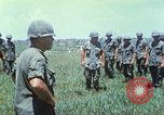 Image of Memorial ceremony for fallen of 199th Light Infantry Brigade South Vietnam, 1968, second 17 stock footage video 65675062054