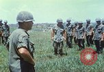 Image of Memorial ceremony for fallen of 199th Light Infantry Brigade South Vietnam, 1968, second 18 stock footage video 65675062054