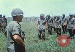 Image of Memorial ceremony for fallen of 199th Light Infantry Brigade South Vietnam, 1968, second 19 stock footage video 65675062054