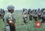 Image of Memorial ceremony for fallen of 199th Light Infantry Brigade South Vietnam, 1968, second 20 stock footage video 65675062054