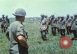 Image of Memorial ceremony for fallen of 199th Light Infantry Brigade South Vietnam, 1968, second 21 stock footage video 65675062054