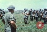 Image of Memorial ceremony for fallen of 199th Light Infantry Brigade South Vietnam, 1968, second 22 stock footage video 65675062054