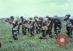 Image of Memorial ceremony for fallen of 199th Light Infantry Brigade South Vietnam, 1968, second 23 stock footage video 65675062054