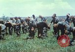 Image of Memorial ceremony for fallen of 199th Light Infantry Brigade South Vietnam, 1968, second 24 stock footage video 65675062054