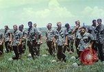 Image of Memorial ceremony for fallen of 199th Light Infantry Brigade South Vietnam, 1968, second 32 stock footage video 65675062054