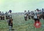 Image of Memorial ceremony for fallen of 199th Light Infantry Brigade South Vietnam, 1968, second 38 stock footage video 65675062054