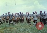 Image of Memorial ceremony for fallen of 199th Light Infantry Brigade South Vietnam, 1968, second 40 stock footage video 65675062054