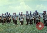 Image of Memorial ceremony for fallen of 199th Light Infantry Brigade South Vietnam, 1968, second 42 stock footage video 65675062054