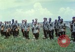 Image of Memorial ceremony for fallen of 199th Light Infantry Brigade South Vietnam, 1968, second 44 stock footage video 65675062054
