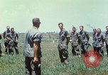 Image of Memorial ceremony for fallen of 199th Light Infantry Brigade South Vietnam, 1968, second 54 stock footage video 65675062054