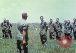 Image of Memorial ceremony for fallen of 199th Light Infantry Brigade South Vietnam, 1968, second 55 stock footage video 65675062054