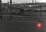 Image of bomb damaged rail road station Hamm Germany, 1945, second 45 stock footage video 65675062219