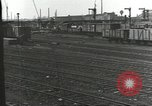 Image of bomb damaged rail road station Hamm Germany, 1945, second 51 stock footage video 65675062219