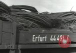 Image of bomb damaged rail road station Hamm Germany, 1945, second 34 stock footage video 65675062220