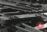 Image of bomb damaged rail road station Hamm Germany, 1945, second 50 stock footage video 65675062220