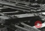 Image of bomb damaged rail road station Hamm Germany, 1945, second 51 stock footage video 65675062220