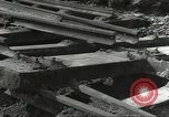 Image of bomb damaged rail road station Hamm Germany, 1945, second 53 stock footage video 65675062220