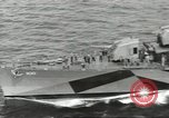 Image of Wounded transferred, ship-to-ship, on Stokes stretcher Mariana Islands, 1944, second 9 stock footage video 65675062229