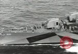 Image of Wounded transferred, ship-to-ship, on Stokes stretcher Mariana Islands, 1944, second 12 stock footage video 65675062229