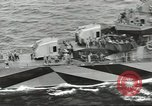 Image of Wounded transferred, ship-to-ship, on Stokes stretcher Mariana Islands, 1944, second 19 stock footage video 65675062229