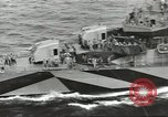 Image of Wounded transferred, ship-to-ship, on Stokes stretcher Mariana Islands, 1944, second 21 stock footage video 65675062229