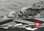 Image of Wounded transferred, ship-to-ship, on Stokes stretcher Mariana Islands, 1944, second 22 stock footage video 65675062229