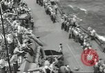 Image of Wounded transferred, ship-to-ship, on Stokes stretcher Mariana Islands, 1944, second 54 stock footage video 65675062229
