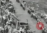 Image of Wounded transferred, ship-to-ship, on Stokes stretcher Mariana Islands, 1944, second 57 stock footage video 65675062229