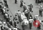Image of Transferring wounded between ships on Stokes stretcher Mariana Islands, 1944, second 16 stock footage video 65675062231