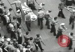 Image of Transferring wounded between ships on Stokes stretcher Mariana Islands, 1944, second 18 stock footage video 65675062231