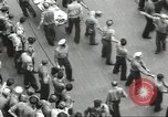 Image of Transferring wounded between ships on Stokes stretcher Mariana Islands, 1944, second 19 stock footage video 65675062231
