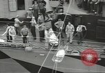 Image of Transferring wounded between ships on Stokes stretcher Mariana Islands, 1944, second 24 stock footage video 65675062231
