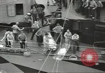 Image of Transferring wounded between ships on Stokes stretcher Mariana Islands, 1944, second 26 stock footage video 65675062231