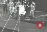Image of Transferring wounded between ships on Stokes stretcher Mariana Islands, 1944, second 41 stock footage video 65675062231
