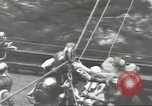 Image of Transferring wounded between ships on Stokes stretcher Mariana Islands, 1944, second 51 stock footage video 65675062231