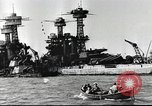 Image of Devastation from Japanese attack on Pearl Harbor Pearl Harbor Hawaii USA, 1941, second 32 stock footage video 65675062272