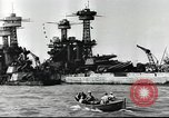 Image of Devastation from Japanese attack on Pearl Harbor Pearl Harbor Hawaii USA, 1941, second 33 stock footage video 65675062272
