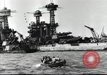 Image of Devastation from Japanese attack on Pearl Harbor Pearl Harbor Hawaii USA, 1941, second 34 stock footage video 65675062272