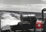 Image of US Navy patrol boat drops depth charges Atlantic Ocean, 1942, second 18 stock footage video 65675062275