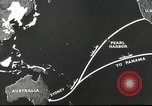 Image of US ocean supply lines to Australia Pacific Theater, 1942, second 38 stock footage video 65675062279